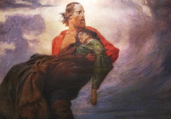 <br />Garibaldi with dying Anita, oil on canvas